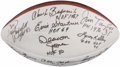 Football Collectibles:Balls, Hall of Fame Multi-Signed Football....