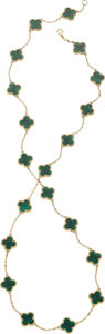 Estate Jewelry:Necklaces, Malachite, Gold Necklace . ...