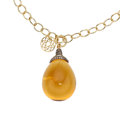 Estate Jewelry:Necklaces, Citrine, Colored Diamond, Gold Necklace. ...