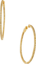 Estate Jewelry:Earrings, Colored Diamond, Gold Earrings . ...