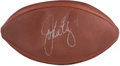 Autographs:Footballs, John Elway Signed Leather Wilson Football. ...