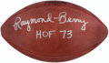 Autographs:Footballs, Raymond Berry Signed Leather Wilson Football....