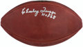 Autographs:Footballs, Charley Trippi Signed Leather Wilson Football....