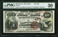 National Bank Notes:Wisconsin, Manitowoc, WI - $10 1882 Brown Back Fr. 487 The NB of Manitowoc Ch. # (M)4975. ...