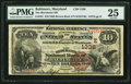 National Bank Notes:Maryland, Baltimore, MD - $10 1882 Brown Back Fr. 481 The Merchants NB Ch. #(E)1336. ...