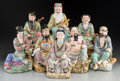 Asian:Chinese, Eight Chinese Ceramic Figures Depicting the Eight Immortals. Marks:Impressed seal. 11-1/2 inches high (29.2 cm) (tallest). ... (Total:8 Items)
