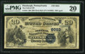 National Bank Notes:Pennsylvania, Pittsburgh, PA - $20 1882 Date Back Fr. 555 The Federal NB Ch. # (E)6023. ...