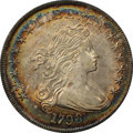 1798 $1 Large Eagle, Pointed 9, Close Date, B-31, BB-115, R.4, AU58+ NGC. CAC....(PCGS# 40032)