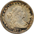 Early Half Dimes, 1801 H10C V-1 and V-2, LM-2, R.4, AU53 NGC....