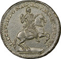 Colonials, (1688) TOKEN American Plantation Token, 1/24 Part Real, Sidewise 4, Newman 3-C, W-1145, R.7, MS61 NGC. ...