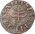 Colonials, 1652 6PENCE Pine Tree Sixpence, Pellets at Trunk, Noe-33A, W-670, Salmon 2*-B, R.5+, XF45 NGC. ...