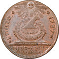 Colonials, 1787 FUGIO Fugio Cent, UNITED Above, Newman 11-A, W-6780, R.6, MS64 Brown NGC. ...