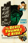 "Movie Posters:Film Noir, The Devil Thumbs a Ride (RKO, 1947). One Sheet (27"" X 41"").. ..."