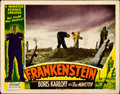"Movie Posters:Horror, Frankenstein (Realart, R-1951). Lobby Card (11"" X 14"").. ..."