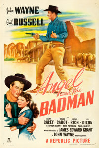 """Angel and the Badman (Republic, 1947). One Sheet (27"""" X 41"""")"""