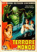 "Movie Posters:Horror, The Creature Walks Among Us (Universal International, 1956).Italian 2 - Fogli (39"" X 55"") Carmellini Artwork.. ..."