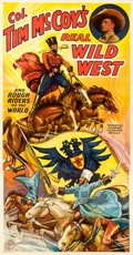 "Movie Posters:Western, Tim McCoy's Real Wild West Show (1938). Three Sheet (41"" X 79"")....."