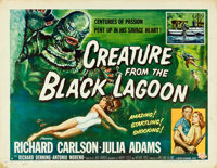"Creature from the Black Lagoon (Universal International, 1954). Half Sheet (22"" X 28"") Style A, Reynold Brown..."