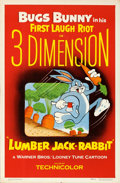 "Movie Posters:Animation, Lumber Jack-Rabbit (Warner Brothers, 1954). One Sheet (27"" X 41"")3-D Style.. ..."