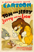 "Movie Posters:Animated, Jerry and the Lion (MGM, 1950). One Sheet (27"" X 41"").. ..."