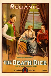 "The Death Dice (Mutual, 1915). One Sheet (28.5"" X 42"")"