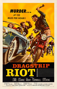 "Dragstrip Riot (American International, 1958). One Sheet (27"" X 41"")"