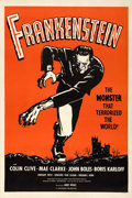"Movie Posters:Horror, Frankenstein (Universal, R-1960s). One Sheet (27"" X 41"") RedStyle.. ..."