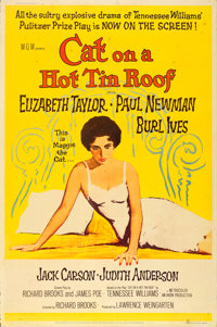 "Cat on a Hot Tin Roof (MGM, 1958). Poster (40"" X 60"") Style Z"