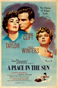 "Movie Posters:Drama, A Place in the Sun (Paramount, 1951). Poster (40"" ..."