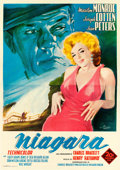 "Movie Posters:Film Noir, Niagara (20th Century Fox, R-1960). Italian 4 - Fogli (54"" X76.25"") Maro Artwork.. ..."