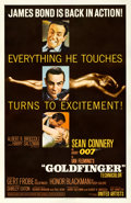 "Movie Posters:James Bond, Goldfinger (United Artists, 1964). One Sheet (27"" X 41"") GlossyStyle.. ..."