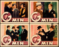 "Movie Posters:Crime, G-Men (First National, 1935). Lobby Cards (4) (11"" X 14"").. ...(Total: 4 Item)"
