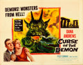 """Movie Posters:Horror, Curse of the Demon (Columbia, 1957). Half Sheet (22"""" X 28"""") Style A.. ..."""