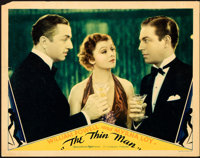 "The Thin Man (MGM, 1934). Lobby Card (11"" X 14"")"