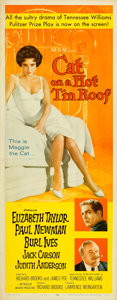 "Movie Posters:Drama, Cat on a Hot Tin Roof (MGM, 1958). Insert (14"" X 36"").. ..."
