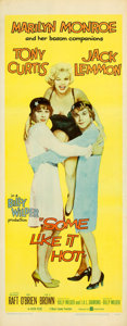 "Movie Posters:Comedy, Some Like It Hot (United Artists, 1959). Insert (14"" X 36"") YellowStyle.. ..."