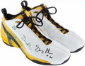 Basketball Collectibles:Others, 2002 Gary Payton Game Worn, Signed Seattle Supersonics Sneakers....
