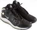 Basketball Collectibles:Others, Circa 2002 Maurice Taylor Game Worn, Signed Houston Rockets Sneakers....