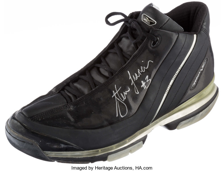 e5649ee93c2 Basketball Collectibles:Others, 2002 Steve Francis Game Worn, Signed  Houston Rockets Shoe.
