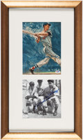 Autographs:Photos, Ted Williams Signed Dual Photographs Display. ...