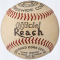 Autographs:Baseballs, Vintage Official Reach Baseball. ...