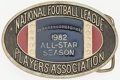 Football Collectibles:Others, 1982 NFL Players Association All-Star Team Belt Buckle. ...