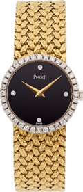 Estate Jewelry:Watches, Piaget Lady's Diamond, Gold Watch . ...