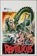 """Movie Posters:Science Fiction, Reptilicus (General Films, 1961). Belgian (14.25"""" X 21.5""""). ScienceFiction.. ..."""