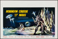 """Movie Posters:Science Fiction, Robinson Crusoe on Mars (Paramount, 1964). Belgian (14.25"""" X21.25""""). Science Fiction.. ..."""