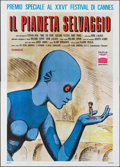 "Movie Posters:Animation, Fantastic Planet (Parva, 1974). Italian 4 - Fogli (55"" X 77""). Animation.. ..."