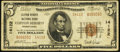 National Bank Notes:Pennsylvania, Clifton Heights, PA - $5 1929 Ty. 2 Clifton Heights NB Ch. # 14122....