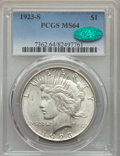 Peace Dollars: , 1923-S $1 MS64 PCGS. CAC. PCGS Population: (2235/159). NGC Census:(1891/80). CDN: $330 Whsle. Bid for problem-free NGC/PCG...