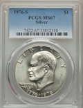 Eisenhower Dollars, 1976-S $1 Silver MS67 PCGS. PCGS Population: (5509/819). NGC Census: (1181/95). CDN: $45 Whsle. Bid for problem-free NGC/PC...