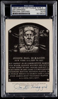 Autographs:Post Cards, 1956-63 Joe DiMaggio Signed Artvue Hall of Fame Plaque PostcardPSA/DNA Authentic....